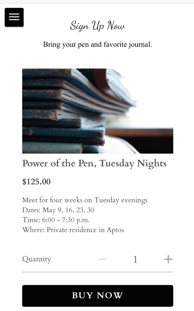 Power of the Pen writing groups